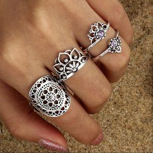 Jewelry - Mandala Midi Rings Set